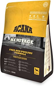 ACANA Free-Run Poultry Dry Dog Food 4.5# Bag with Free-Run Chicken, Turkey & NEST-Laid Eggs