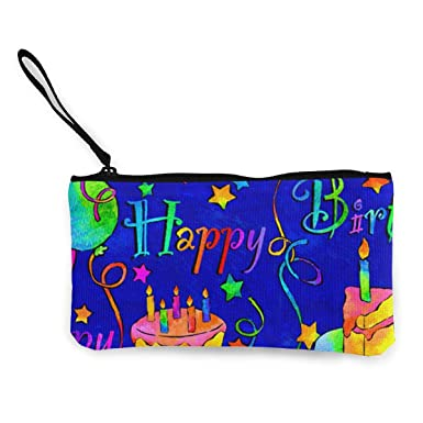 Amazon.com: Happy Birthday Monedero de viaje para maquillaje ...