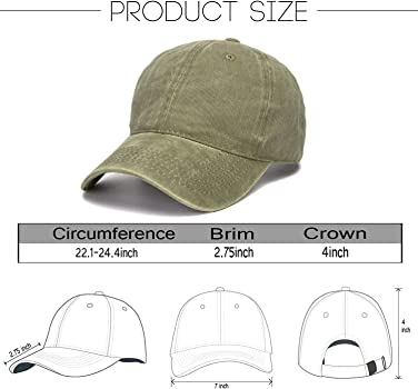 fbcc08b92 Vintage Washed Distressed Cotton Dad Hat Baseball Cap Adjustable Polo  Trucker Unisex Style Headwear