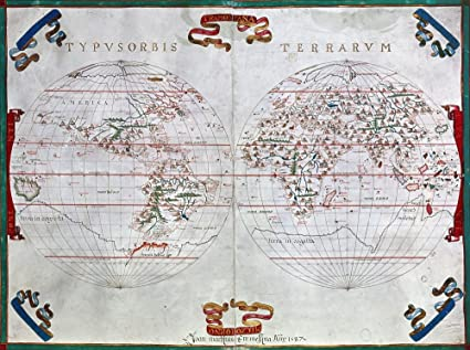 1587 World Map.Amazon Com Posterazzi Glp469052large Poster Print Collection World