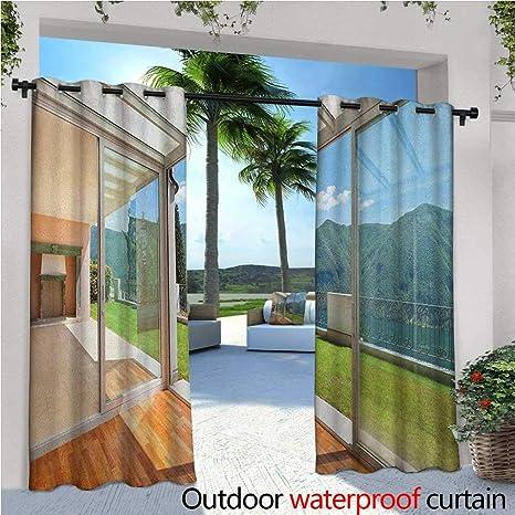 Amazon.com : Landscape Balcony Curtains Apartment Villa with ...