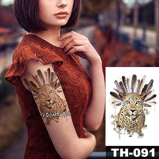 3pcs-12x19cm Tatuajes temporales a Prueba de Agua vórtice Redondo ...