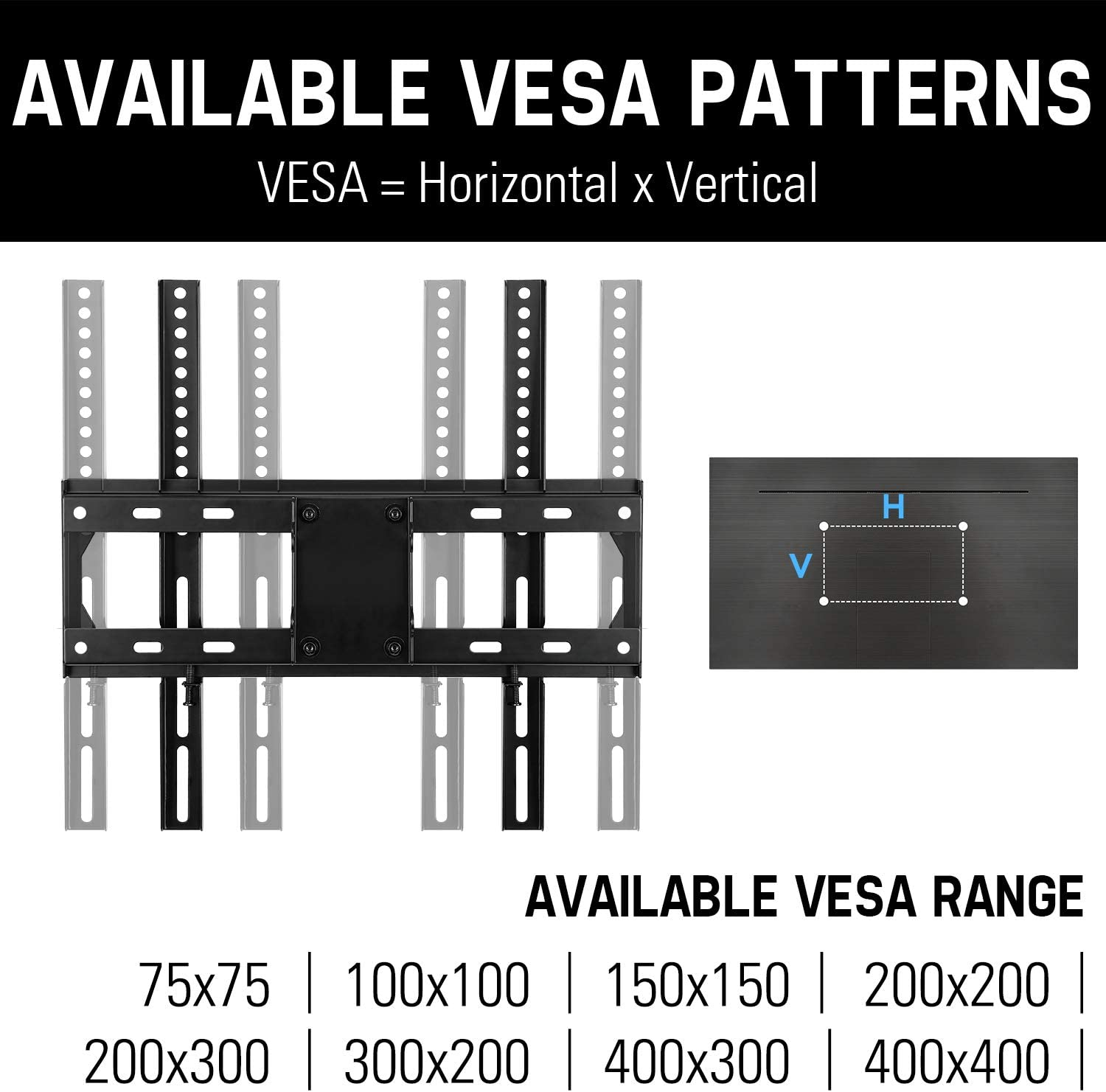 Mounting Dream TV Wall Mount Full Motion for 26-55 Inch TVs with 19.3