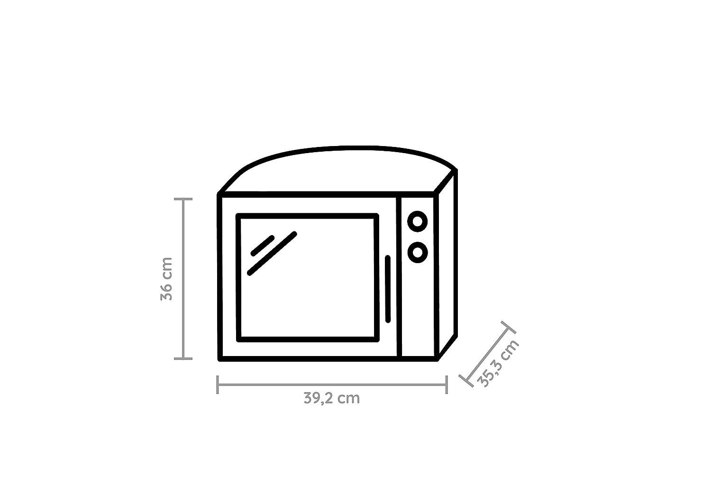 3D Coloris argent 700 W Import Allemagne 13 l Whirlpool MAX 34 SL Four /à micro-ondes Fonction Jet Start