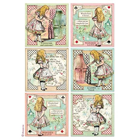 14x18 Alice Stamperia HD Natural Rubber Stamp cm