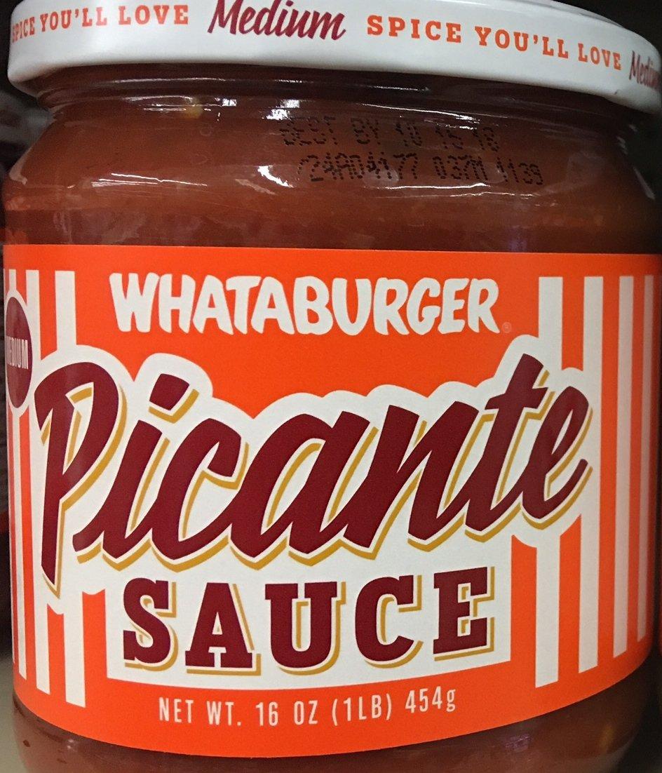 Amazon.com: Whataburger Salsa Picante Sauce 16oz Glass Jar (Pack of 3) (Picante Sauce - Medium)
