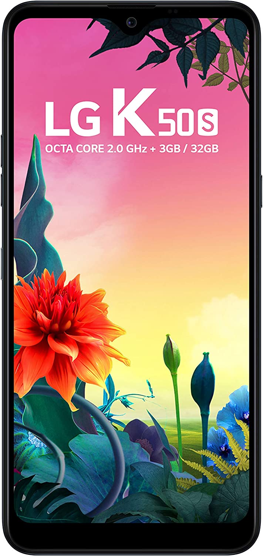 "Smartphone LG K50S Preto 32GB, Tela 6, 5"" Narrow Notch HD+ FullVision, Inteligencia Artificial, Camera Tripla, Selfie de 13MP e Processador Octa-Core - Preto"