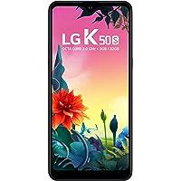 """Smartphone LG K50S Preto 32GB, Tela 6,5"""" Narrow Notch HD+ FullVision, Inteligência Artificial, Câmera Tripla, Selfie de 13MP e Processador Octa-Core - Preto"""