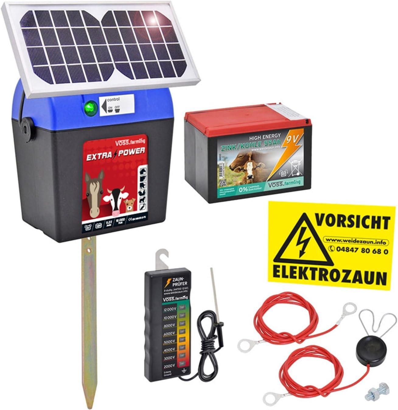 vers/átil y Potente Electrificador de cercados 230V Voss.farming Pastor el/éctrico V70