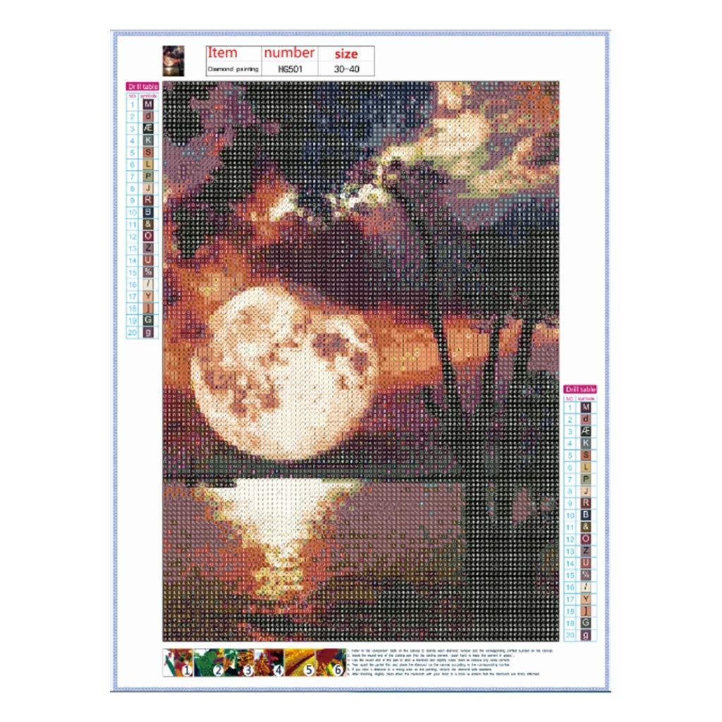 Danyerst Moon 5D Full Drill Rhinestone Diamond Painting DIY Embroidery Cross Stitch Kit