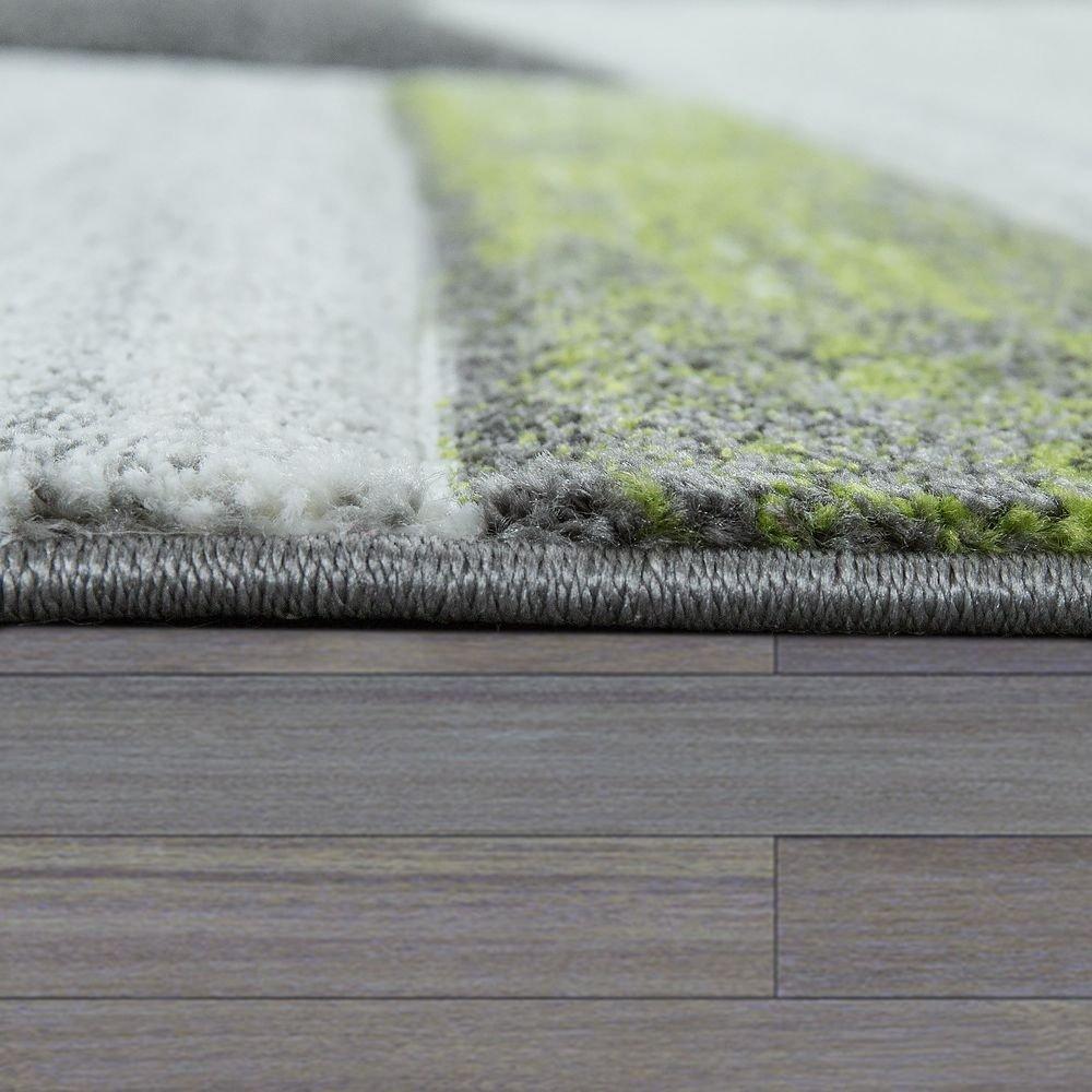 Paco Home Designer Teppich Modern Konturenschnitt Geometrisches Geometrisches Geometrisches Muster Grau Grün, Grösse 200x290 cm 2e9015