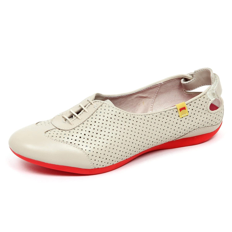 Woman Camper without Donna Box Ballerina Scarpe Shoe E5576 Beige nSTTrIq0