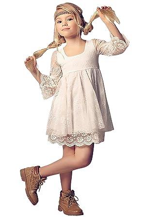 Babyonlinedress Kinder Mädchen Kleid 3/4 Arm Festlich Kinderkleid ...