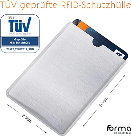DURABLE Kreditkartenhülle RFID SECURE 3er Pack Silber//Transparent