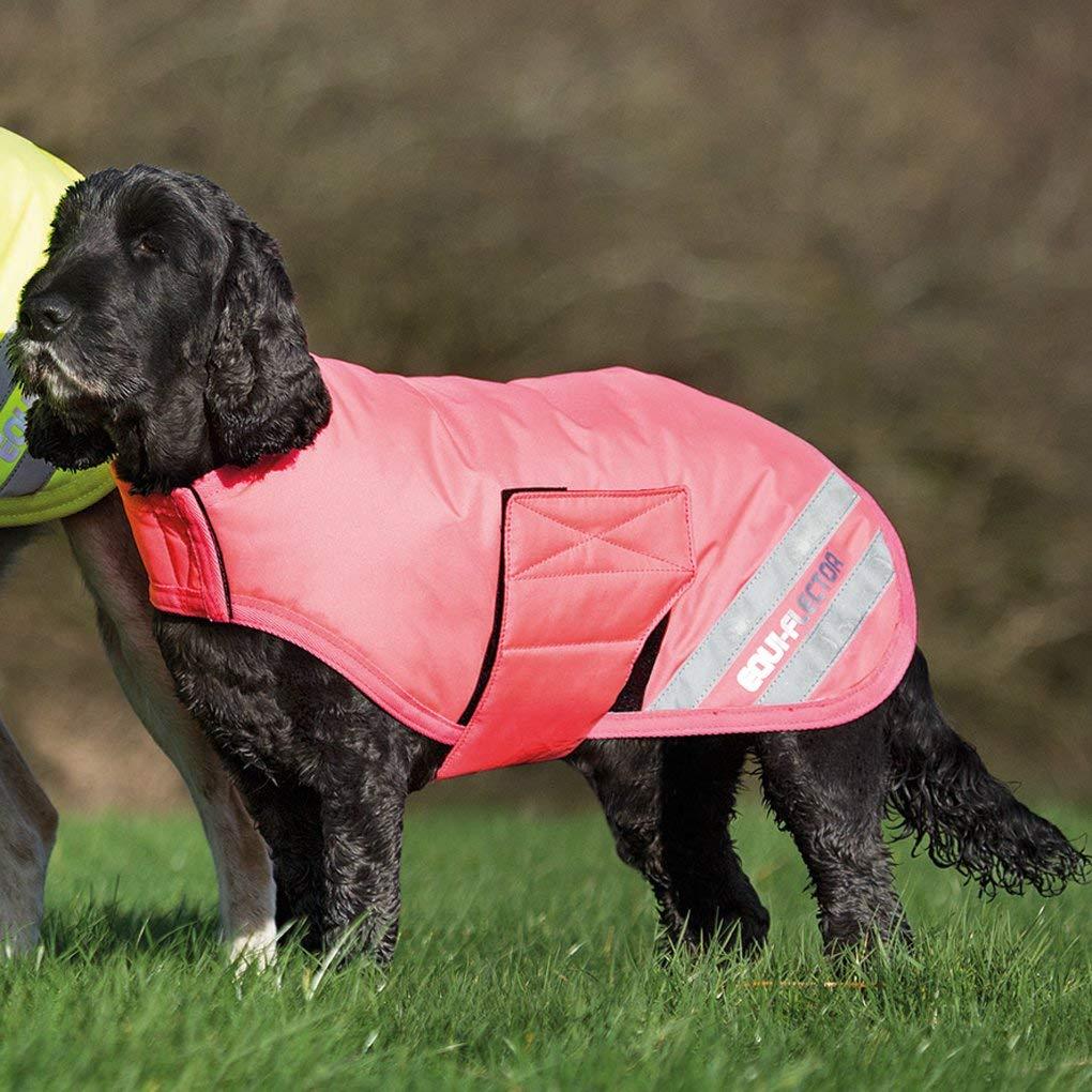 Shires Waterproof Dog Jacket X Large Equi Flector Pink