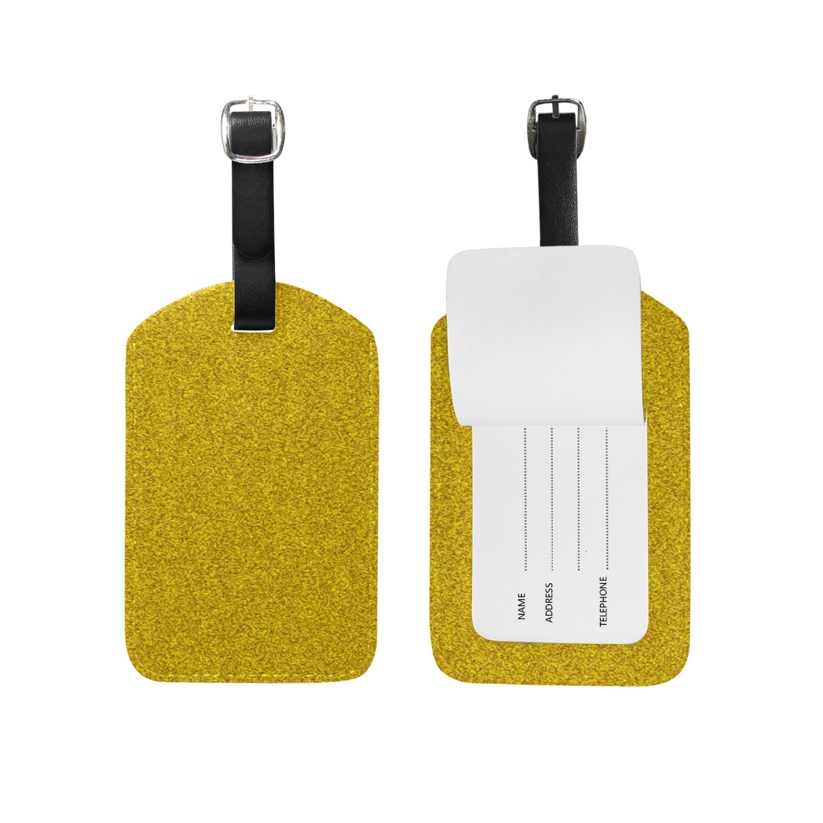 Hipster Fine Powders Travel Leather Luggage Baggage Suitcases Tags Label Set of 2