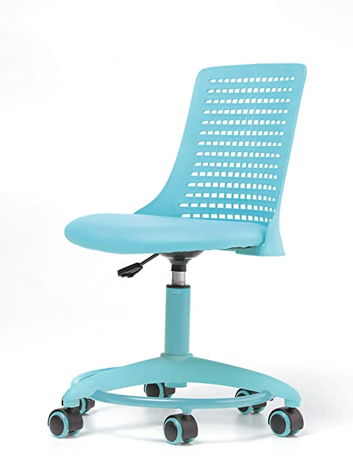 Fabulous Office Factor Kids Chair Adjustable Height Office School Kids Chair Revolving Chair With Wheels Breathable Back Chair For Kids Color Blue Theyellowbook Wood Chair Design Ideas Theyellowbookinfo