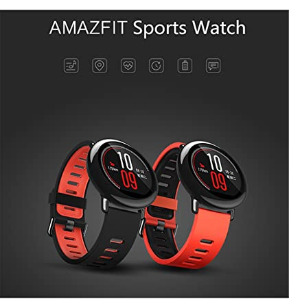 Smartwatch Amazfit Pace (Xiaomi-Huami) con pulsometro , gps, reproductor de musica, monitor de sueño y notificaciones. (SHIPPED from Warehouse in ...