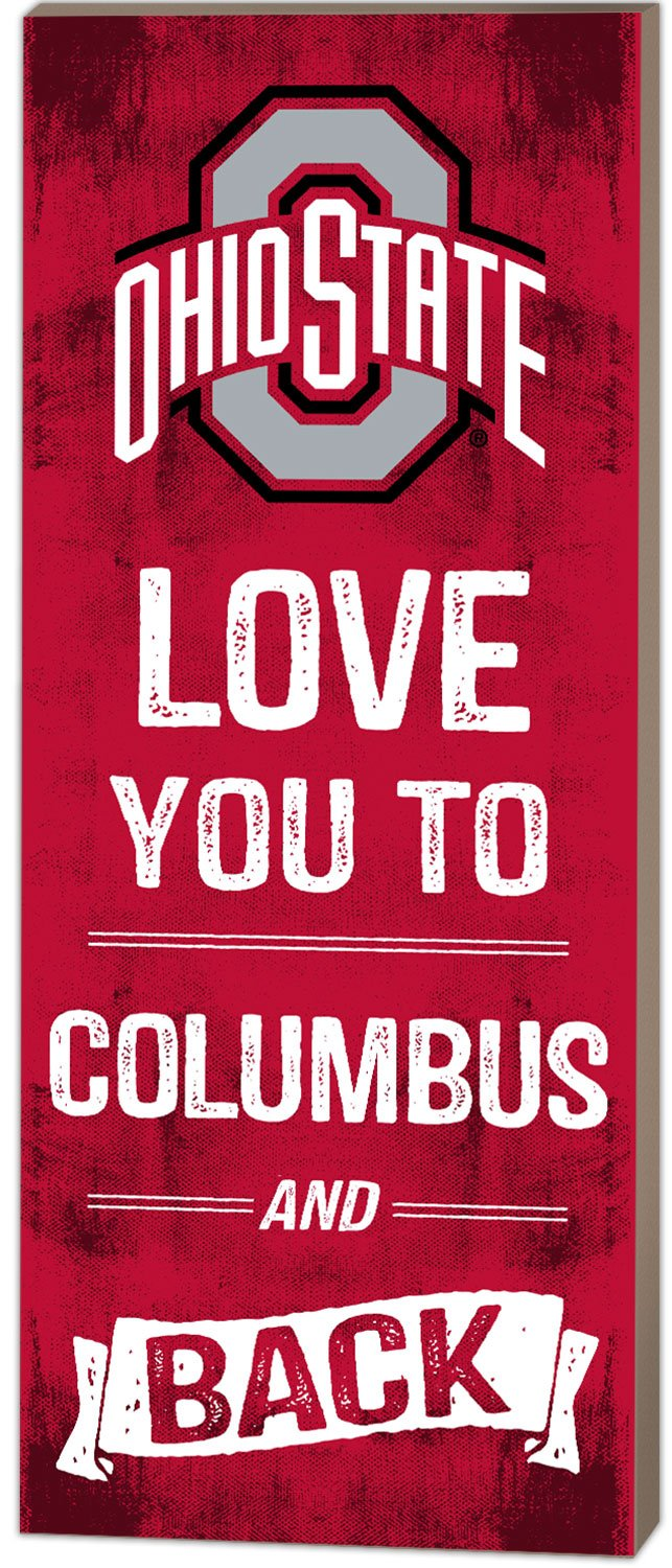 KH Sports Fan 7''x18'' Ohio State Buckeyes Love You to Collage Logo Plaque by KH Sports Fan