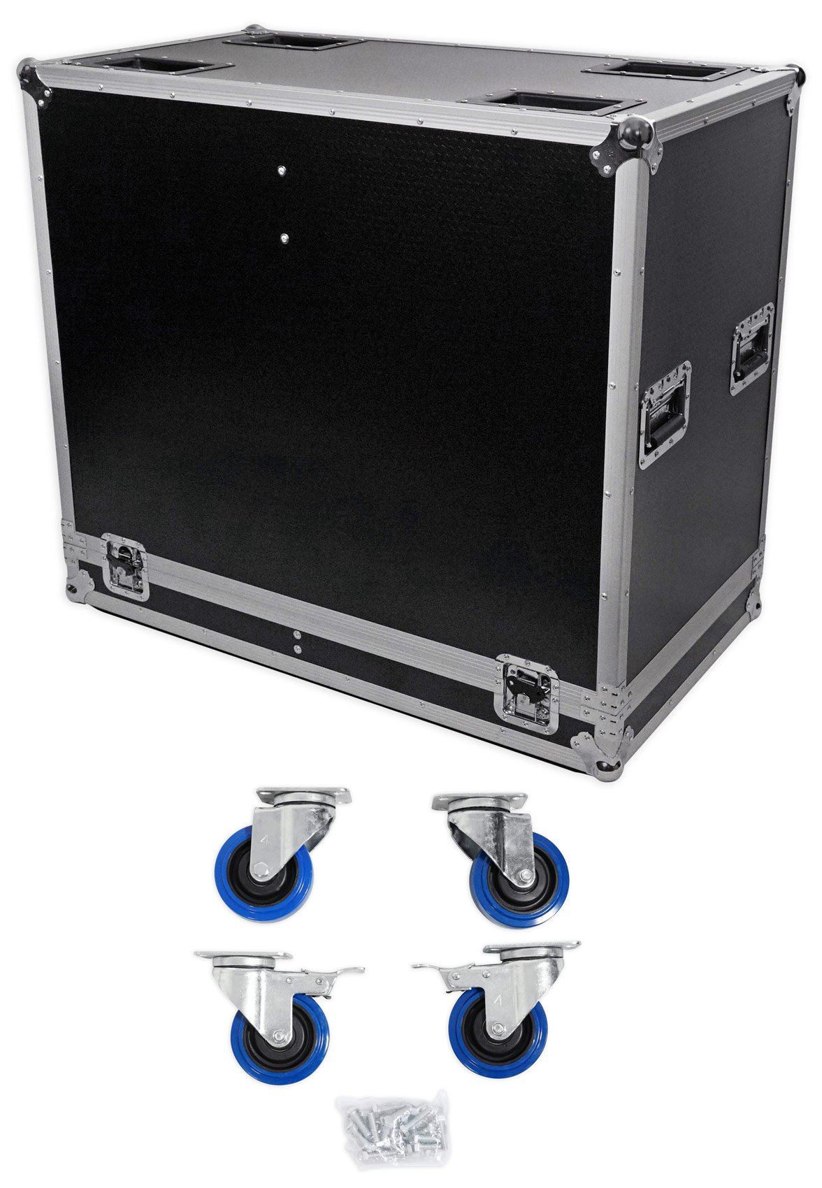 ProX XS-2X15-SPW Speaker Flight Case For (2) 15'' Speakers w/ Heavy Duty Casters