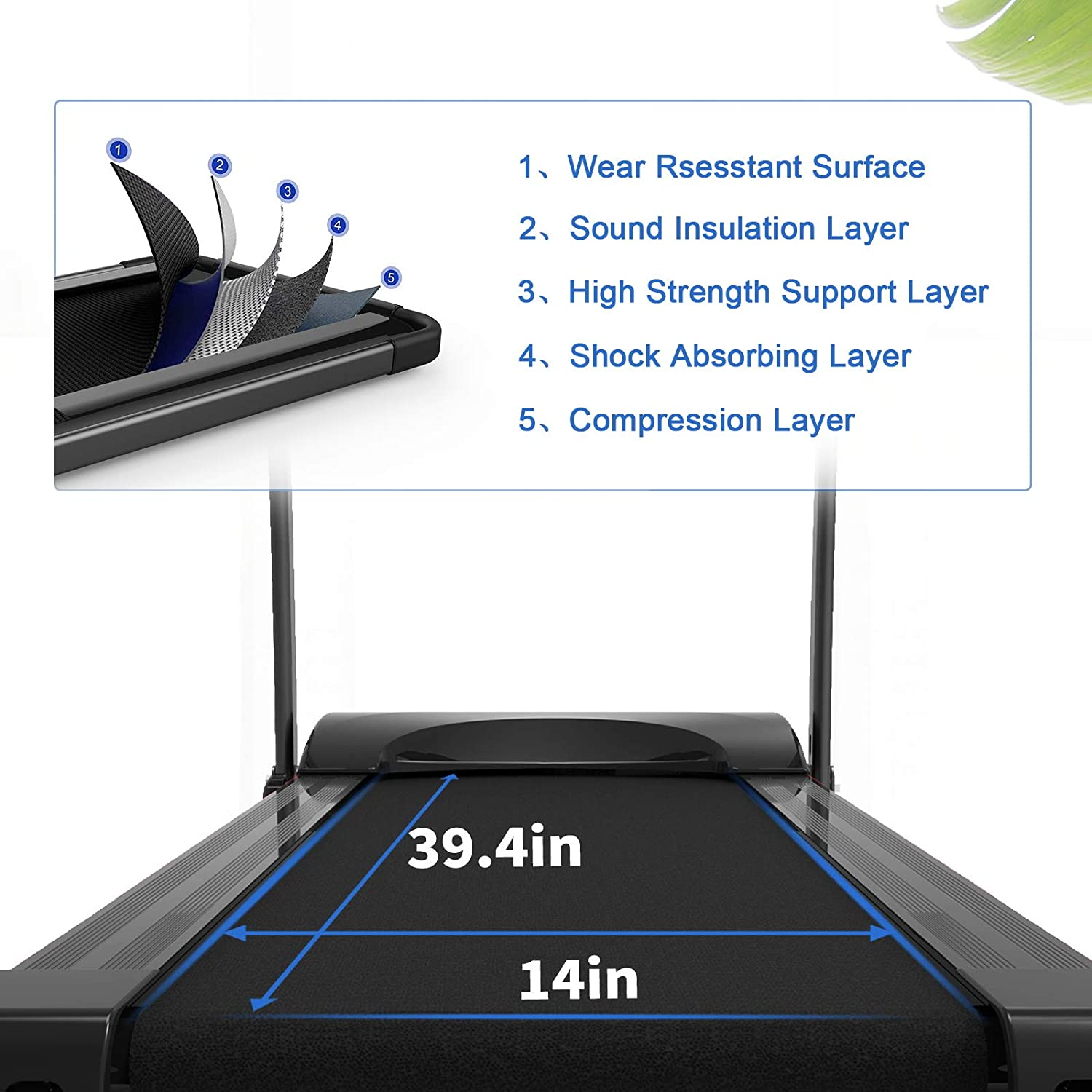 Folding Treadmills for Home Portable Electric Treadmill Running Exercise Machine Compact Treadmill Foldable with LCD Display and Mobile Phone Holder Perfect for Home Fitness Workout Jogging Walking