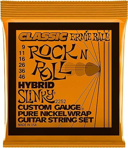 Ernie Ball Hybrid Slinky Classic Rock n Roll Cuerdas de Guitarra ...