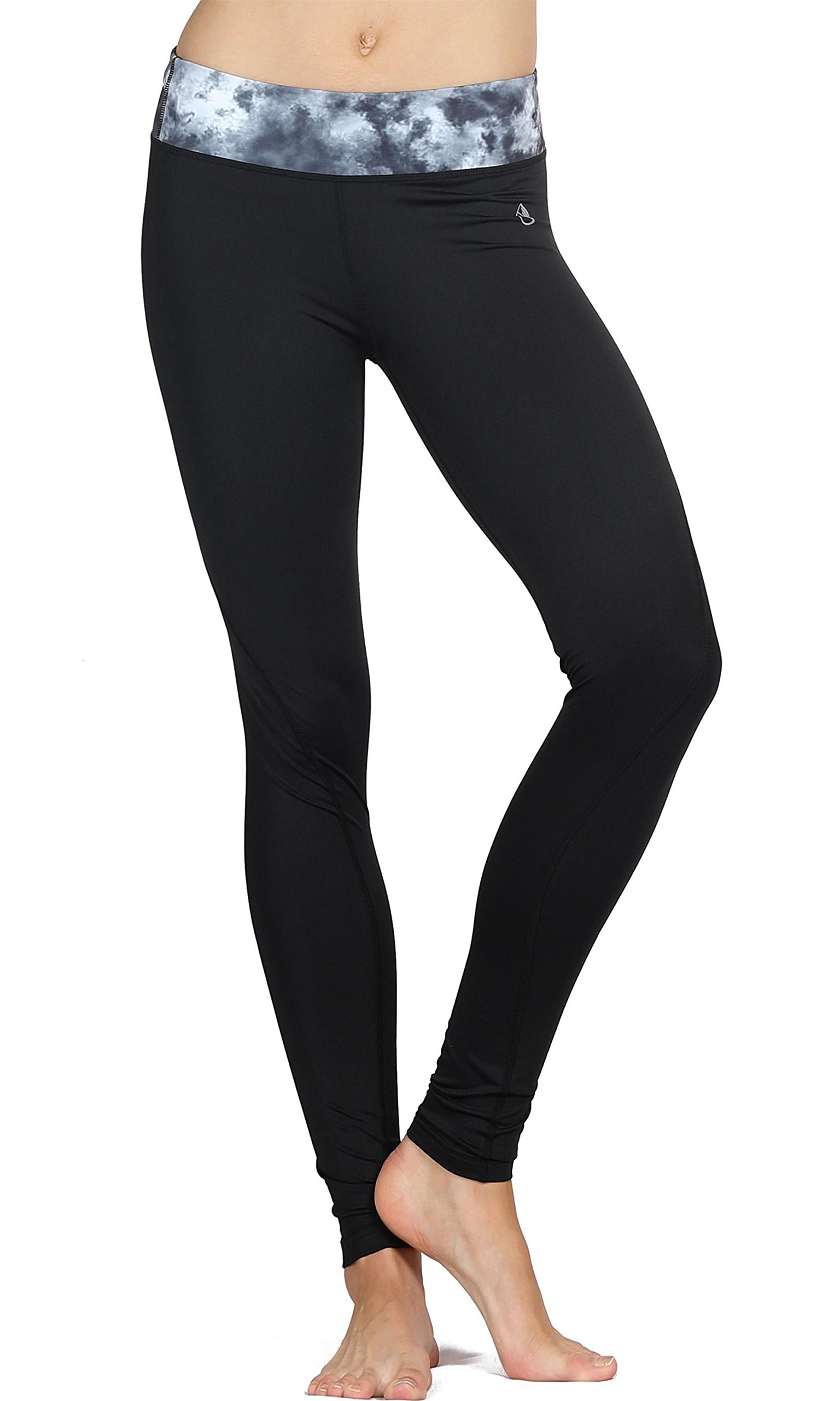 icyzone Activewear Women Running Pants Yoga Workout Leggings Slim Fitted Tights (M, Storm)