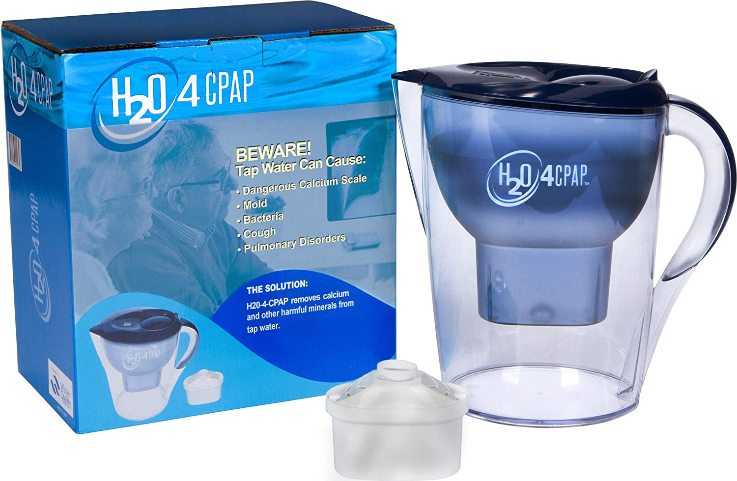 big sale 7a50e 166ee Amazon.com  H2O 4 CPAP Distilled Water Filtering System   for CPAP  Humidifier Water Chambers   Removes Harmful Calcium   Minerals from Tap  Water   Filter ...