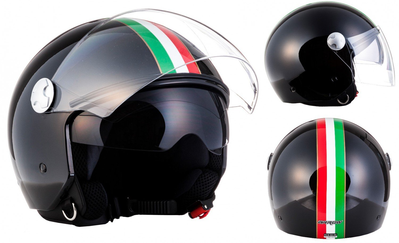 "ARMOR /· AV-63 /""Italy Creme/"" Motorrad-Helm Scooter-Helm  Click-n-Secure Clip /· Tragetasche /· XXL 63-64cm Gelb"