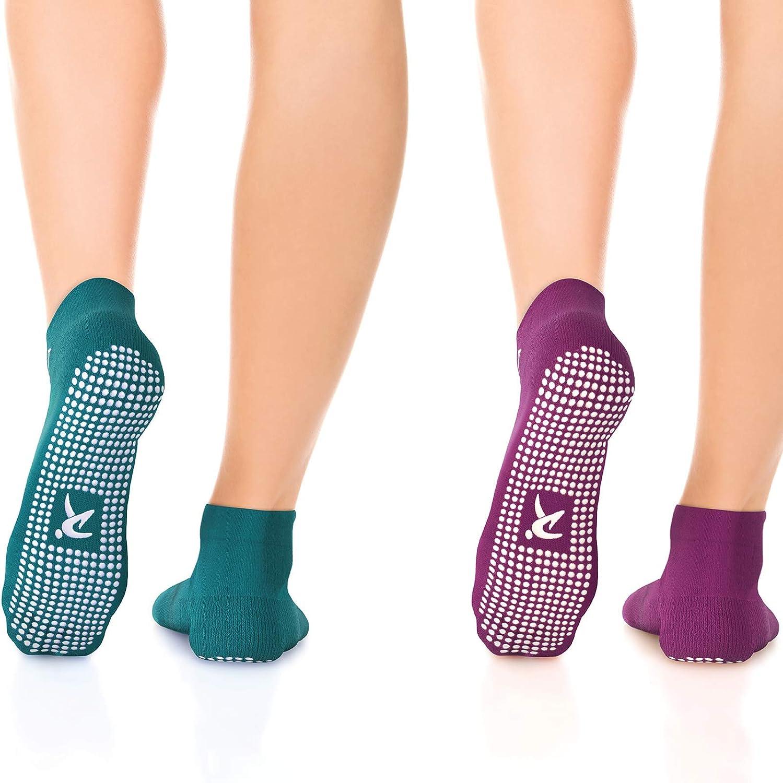 Rymora Non Slip Grip Socks for Women & Men, Elderly- Pilates, Yoga, and Home