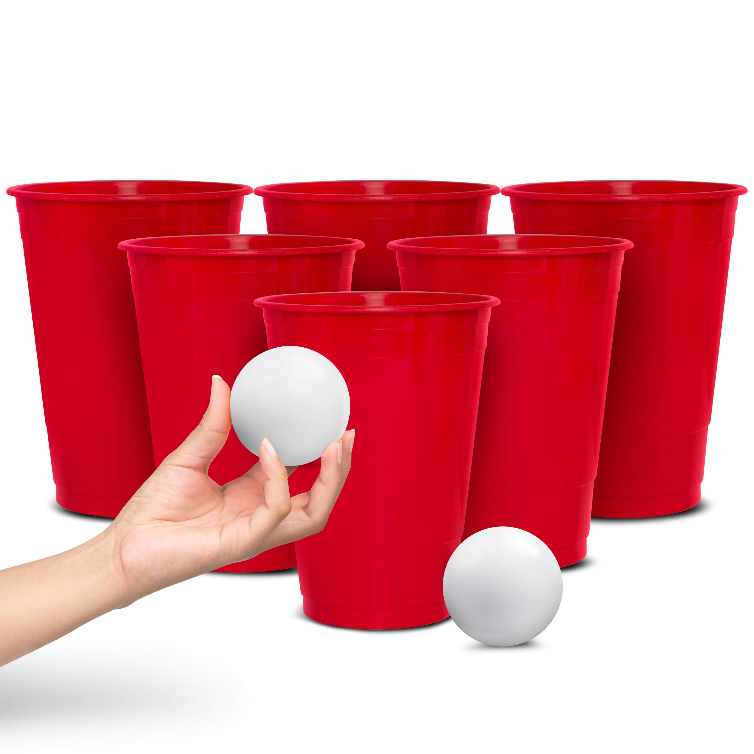 Wembley Oversized Beer Pong Party Drinking Game with 12 Big Cups, 2 Balls & Carrying Bag by Wembley