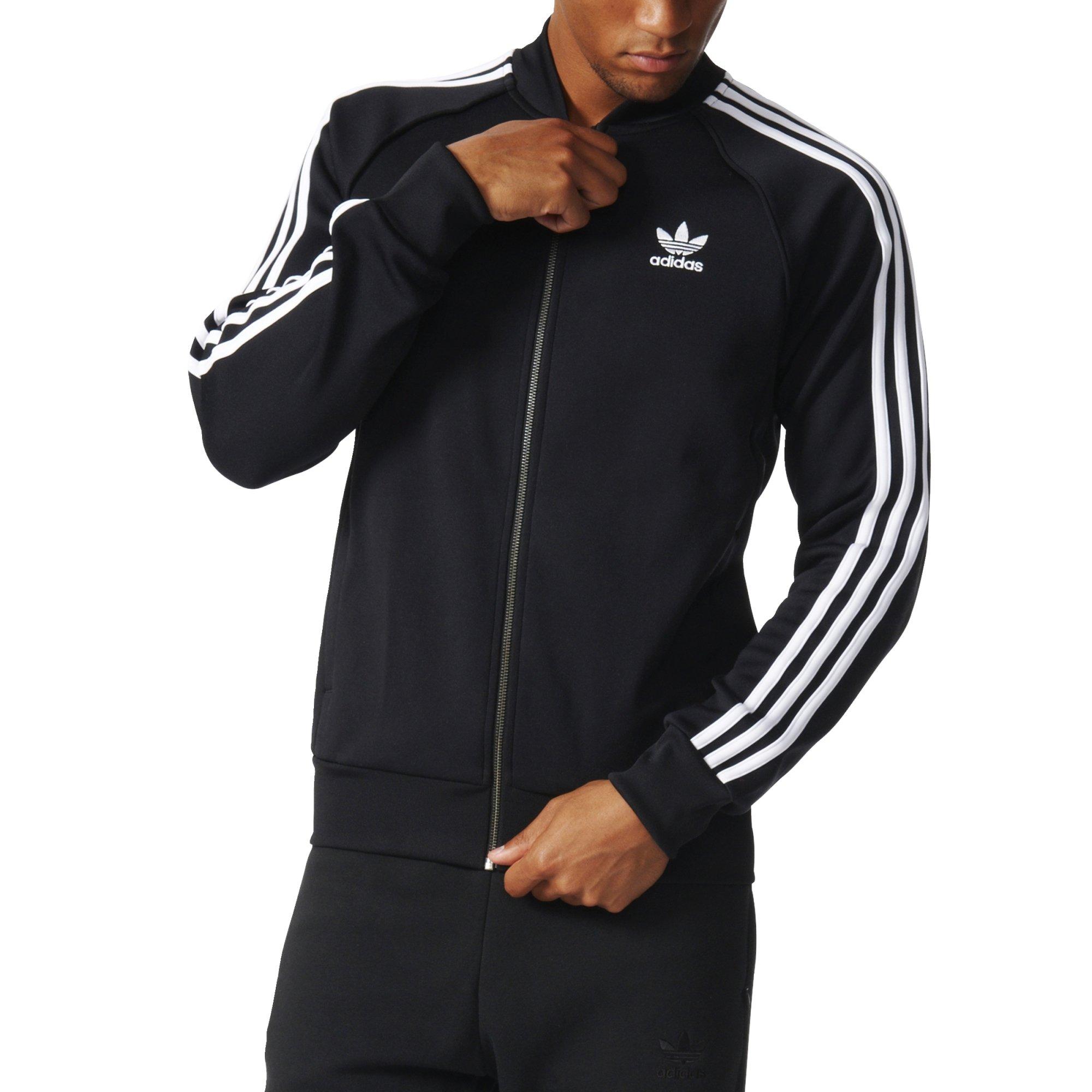 adidas Originals Men's Superstar Track Jacket, Black, Large by adidas Originals