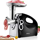 Electric Meat Grinder, Stainless Steel Meat Slicer & Sausage Stuffer [2000W Max] [ETL Approved] [Easy to Clean] with 3…