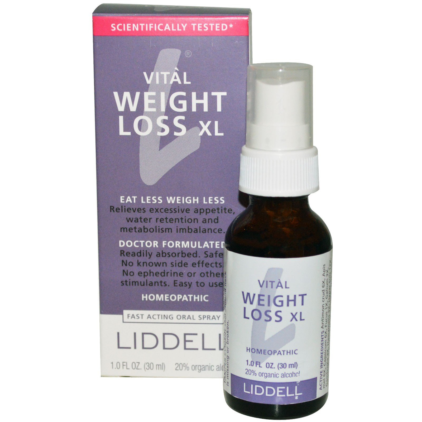 Liddell, Vital Weight Loss XL, Fast Acting Oral Spray, 1.0 fl oz (30 ml) - 3PC