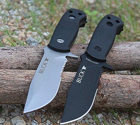 KNIFE SHOP Cuchillo Al Aire Libre Buck Pequeño Recto Cuchillo Cámping Cuchillo Alta Dureza Sostenida Supervivencia Portátil Salvaje Cuchillo No ...
