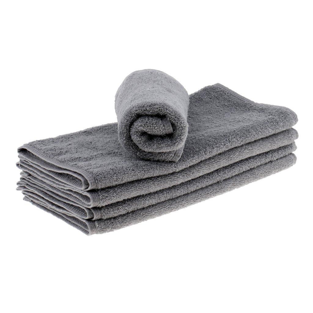 Homyl Bulk 5pcs Soft 100% Cotton Super Absorbent Towel Bathroom SPA Body Shower Bath Cleaner Towel Hand Cotton Sheet for Salon Hotel Home - Gray