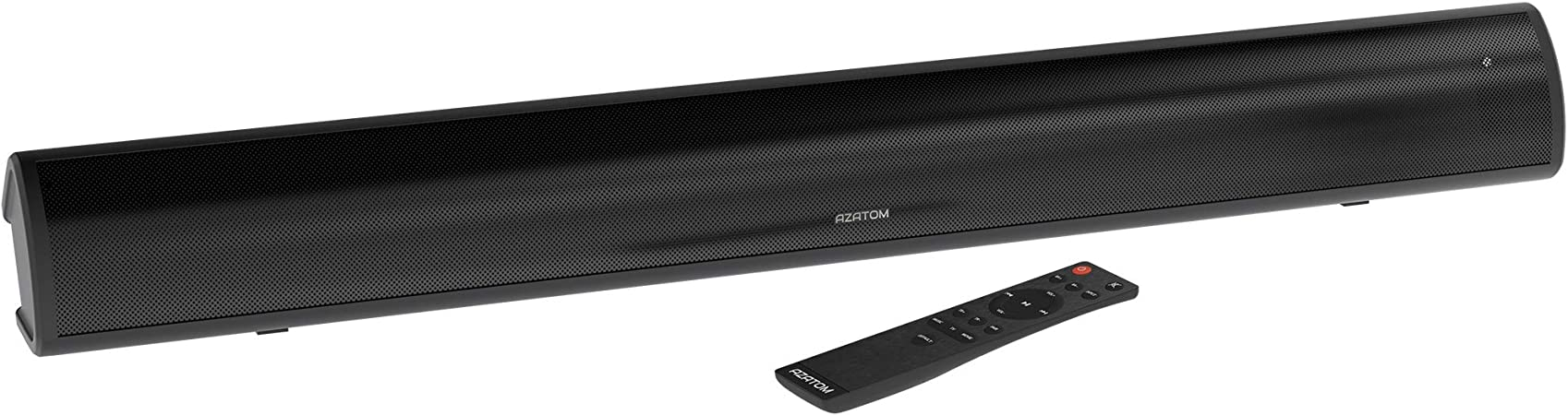 AZATOM Studio Home Soundbar 2.1 with Subwoofer, Surround Sound, 180W Stream Wireless Bluetooth 5.0, Large Remote Control, HDMI Compatible, Optical Cable included (32inch): Amazon.co.uk: Hi-Fi & Speakers
