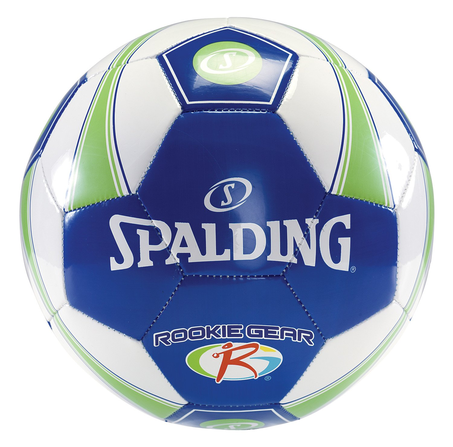 amazon com spalding rookie gear soccer ball blue green size 3