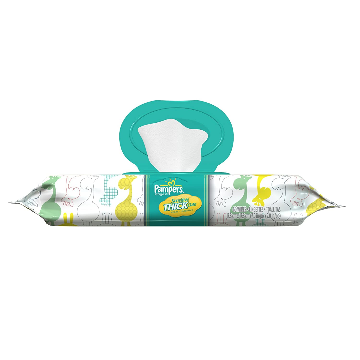Amazon.com: Pampers Sensitive ThickCare Wipes 1x Fitment Pack 60 Count (Pack of 8): Health & Personal Care