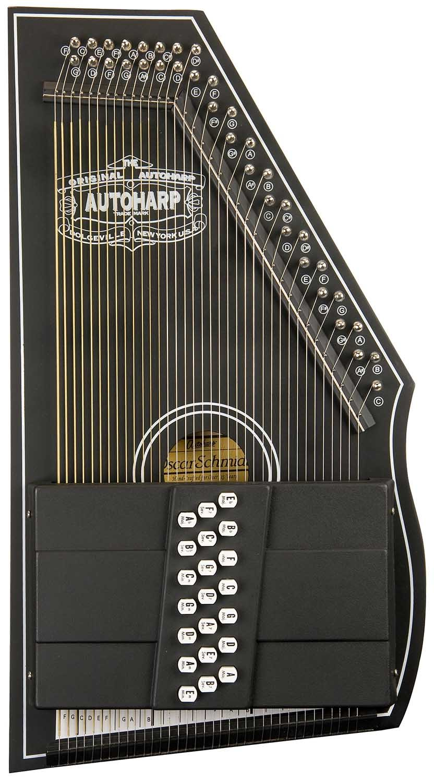 Oscar Schmidt OS73CE 1930's Reissue 21 Chord Autoharp with Pickup - Black