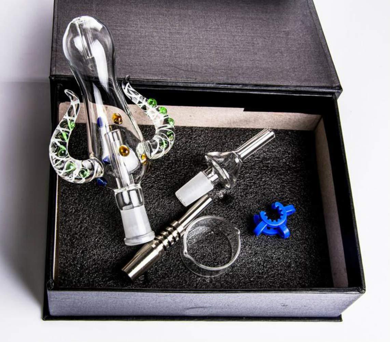 Z-Ran Glass Honey Straw Pipe Gift Box 5 Parts