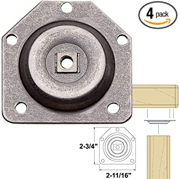 Amazon platte river 893673 hardware table assembly hardware platte river 893673 hardware table assembly hardware straight table leg mounting plate watchthetrailerfo
