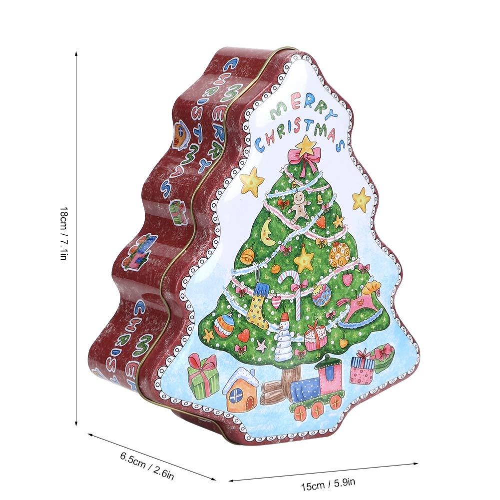 Decorazioni Natalizie Caramelle.Organizzatori Di Cassetti Biscottiera Di Natale Con Coperchio Coperchi Di Caramelle A Forma Di Albero Contenitori Per Decorazioni Natalizie Confezione Regalo Supporti Assortiti Per Carta Di Biscotti Al Cioccolato Cioccolato 1 Casa
