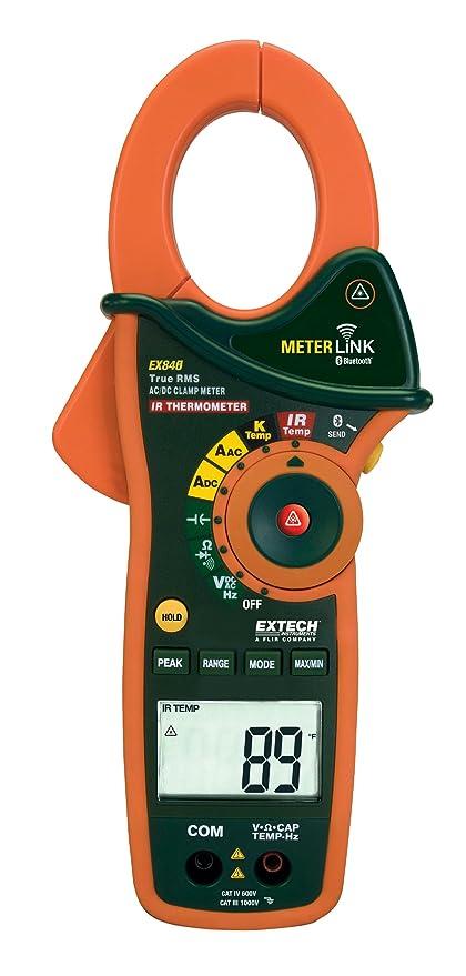 Extech 1000 A AC/DC True RMS de medición Alicate y DMM con IR de ...