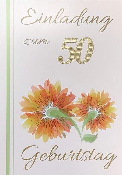 Tarjetas de invitación 50 cumpleaños Muñeco de mujer con ...