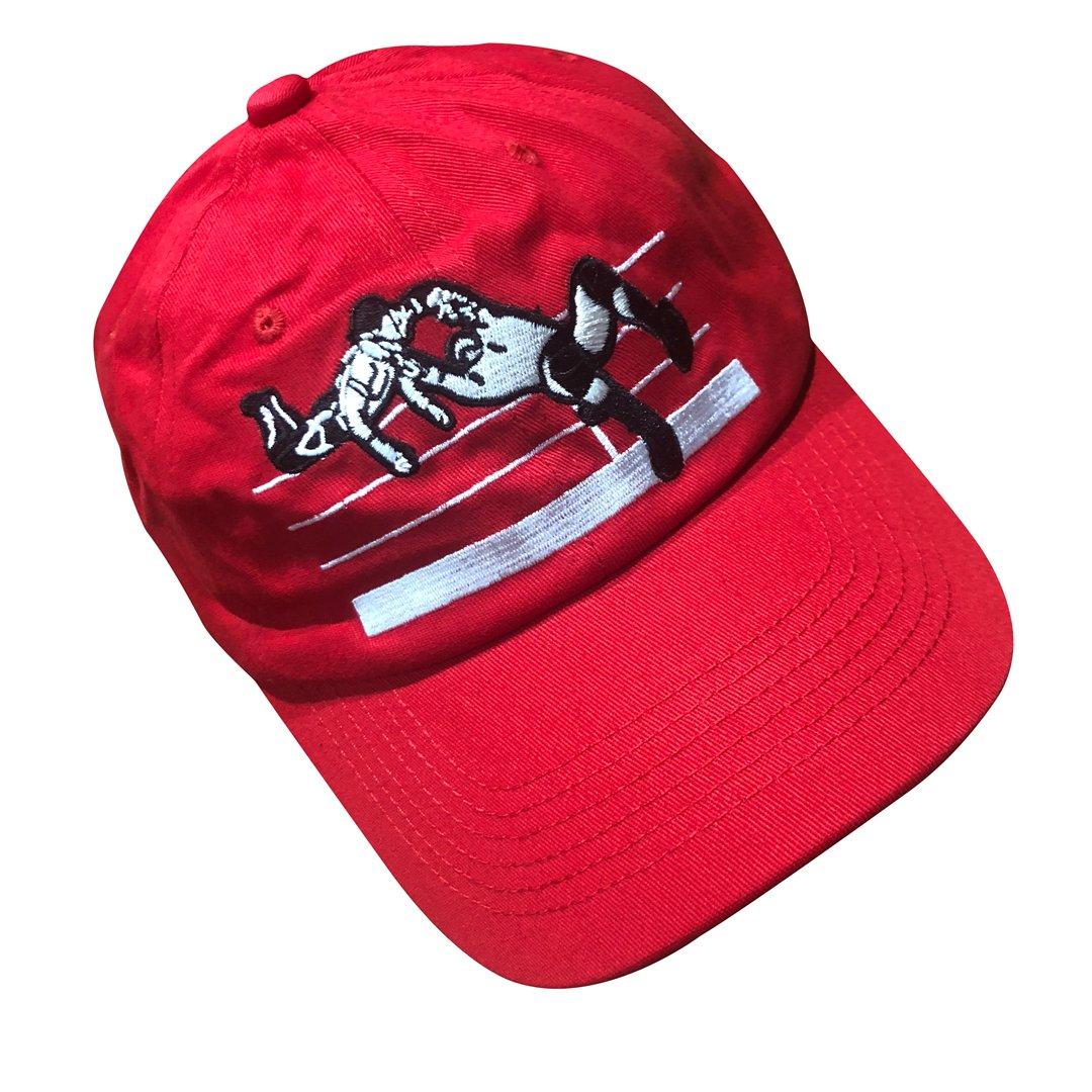 zhidan wei Wrestling Adjustable Cotton Dad Hat Women Men Baseball Cap red by zhidan wei
