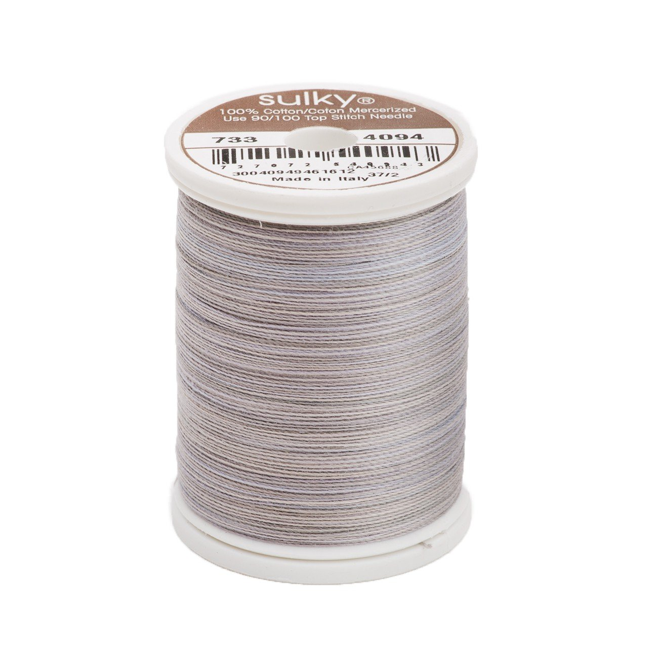 Sulky Of America 400d 30wt 2-Ply Blendables Cotton Thread, 500 yd, Granite by Sulky Of America   B006W6UQP0