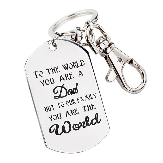 Amazon.com: Fathers Day Gifts Mens Llavero novedad regalo de ...