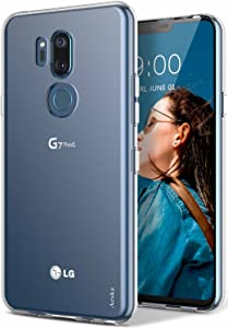 LG G7 Case, LG G7 ThinQ Case, Aeska Ultra [Slim Thin] Flexible TPU Gel Rubber Soft Skin Silicone Protective Case Cover for LG G7 / LG G7 ThinQ (Clear)