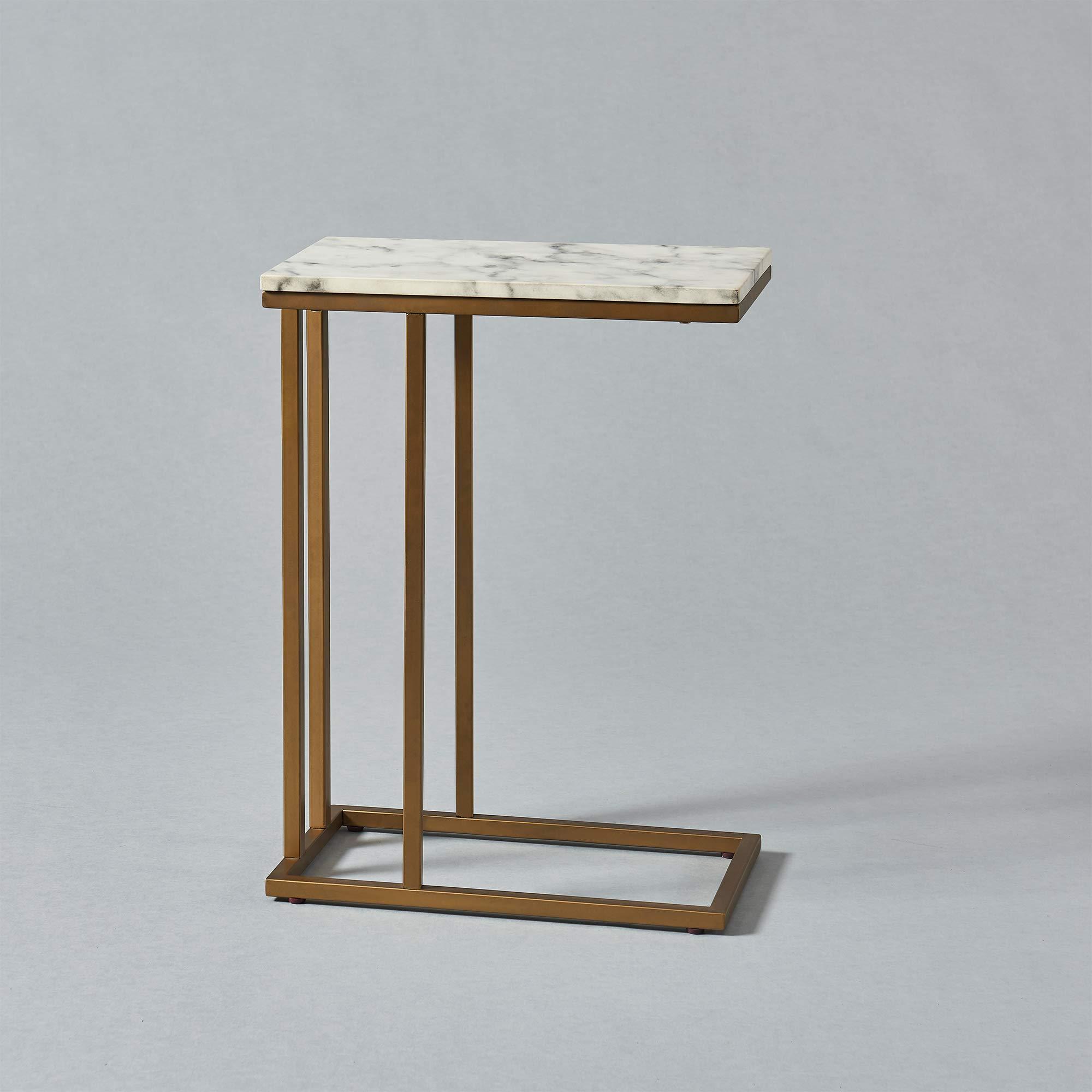 Versanora - Marmo C Shape Table - Faux Marble /Brass by Versanora (Image #12)